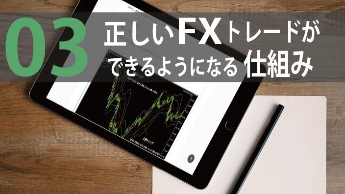 03:正しいFXを学べるレッスンとカリキュラム