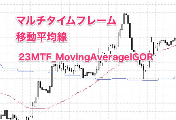 複数の時間足の移動平均線を表示する。マルチタイムフレーム(MTF)移動平均線 23MTF_MovingAverageIGOR の使い方
