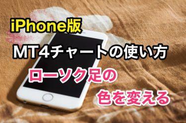 【簡単1分でできる】スマホiPhone版 MT4(メタトレーダー4)のチャートの色の変更方法
